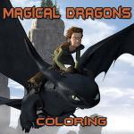 Magical Dragons Coloring