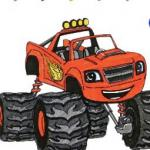 Monster Machines Coloring
